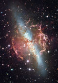 Star field in space — Stock Photo