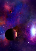 Far-out planets in a space. — Stock Photo