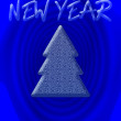 Stock Photo: New year background with tree