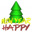 New year background with tree — Stock Photo