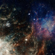 Stock Photo: Small part of infinite star field