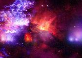 Pole gwiazd w przestrzeni i mgławice — Zdjęcie stockowe