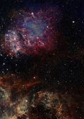 Small part of an infinite star field — Stock Photo