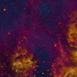 Stock Photo: Being shone nebula