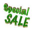 Three dimensional inscription special sale — Stock Photo