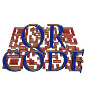 Conceito de código qr — Foto Stock