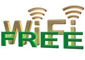 Teken van een gratis draadloze communicatie — Stockfoto