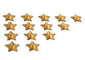 Gold Stars. — Stock Photo