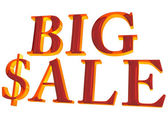 Three-dimensional inscription Big Sale — Stock Photo