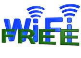 Sign of a free wireless communication — Stock Photo