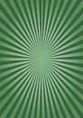 Abstract green background with sunburst — Stock Photo