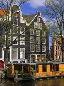 住宅およびハウスボート — ストック写真