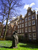 Beguine cloister of Amsterdam, Holland — Stock Photo