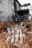 Auto abandonado — Foto de Stock