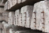 Old concrete sleepers — 图库照片