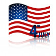 American Flag for Independence Day. Vector illustration. — Stock Vector