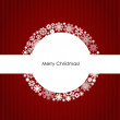 Merry Christmas Greeting Card, vector illustration. — Imagens vectoriais em stock