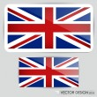 Stock Vector: United Kingdom Flag. Vector illustration.