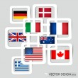 Royalty-Free Stock Vector Image: World flags. Vector illustration.