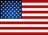 Bandera americana para el día de la independencia. ilustración vectorial. — Vector de stock