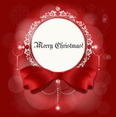 Christmas card: Christmas background with snowflakes, vector illustration. — Vettoriale Stock