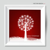 Abstrakt jul bakgrund, vektor illustration. — Stockvektor