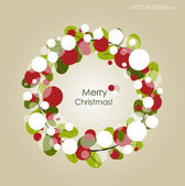 Merry Christmas Greeting Card, vector illustration. — Stock Vector