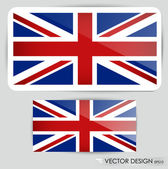 United Kingdom Flag. Vector illustration. — Stock Vector