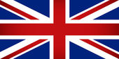 United Kingdom Flag. Vector illustration. — Vettoriale Stock