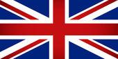 Vlag van het verenigd koninkrijk. vectorillustratie. — Stockvector