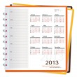 Stock Vector: 2013 calendar notebook, vector illustration.