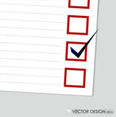 A checklist with black marker and red checked boxes. Concept vec — Stock Vector