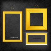 The modern frames on the dark wallpaper, vector illustration. — Stock Vector