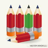 Pencil vector illustration set. Eps 10. — Stock Vector