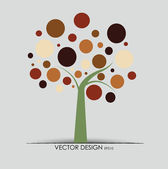 Abstract tree. Vector illustration. — Stock Vector