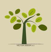 抽象树。矢量插画. — 图库矢量图片