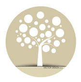 Abstract tree. Vector Illustration. — Vettoriale Stock