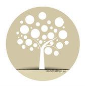 Soyut bir ağaç. vektör çizim. — Stok Vektör