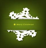 старинные рождественские открытки с оригами снежинка, вектор ил — Cтоковый вектор