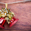 Christmas decoration  on wooden background - Stock Photo