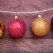 Christmas decoration  on wooden background — Foto Stock