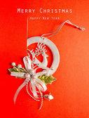 ビンテージ クリスマス ポストカード抽象的な背景 — ストック写真