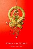 Vintage Christmas postcard abstract background — Stock Photo