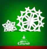 Veselé vánoce pohlednice s vánoční výzdobou, vektorové — Stock vektor