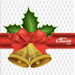 Christmas background with Christmas bells, vector illustration. — Imagens vectoriais em stock