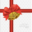 Christmas background with Christmas bells, vector illustration. — Stock Vector #17469785
