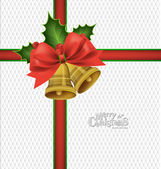 Christmas background with Christmas bells, vector illustration. — Stock Vector