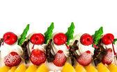 Ice-cream cake on white background — Stock Photo