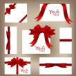 Collection of gift cards and invitations. Vector illustration. — Stock Vector