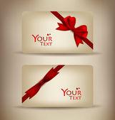 礼品卡和邀请的集合。矢量插画. — 图库矢量图片